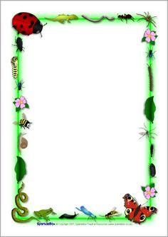 Insecten briefpapier voor de schrijfhoek