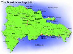 Mapa politico de Republica Dominicana  Mapa mundi  Adimapascom