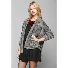 Sparkle and Fade Sweater Gray sweater cardigan. From Urban Outfitters. Great Condition! Urban Outfitters Sweaters Cardigans