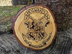 Stemma Hogwarts  Harry Potter di GigaLabWoodCreations su Etsy
