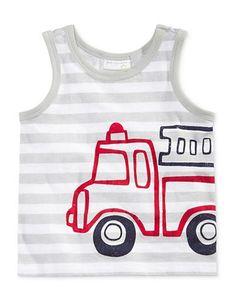 Kids | Baby  | Striped Truck Print Tank Top | Hudson's Bay #babytanktopsboy