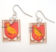 Some postage stamps are so beautiful you can't help but try to find something to do with them. Why not use them as earrings? With all of the different types of stamps from around the world, there are endless options and one to pair with every outfit you can come up with.