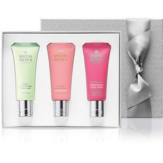 Molton Brown Women's Hand Creams Gift Set ($29) ❤ liked on Polyvore featuring beauty products, gift sets & kits, no color and molton brown