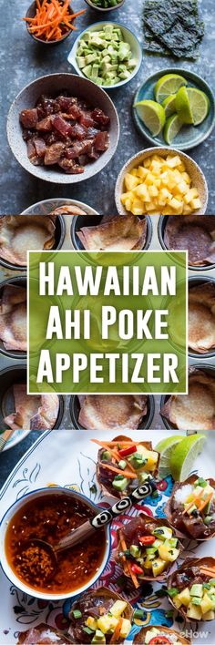 Tune poke has become widely popular! You can make your own Ahi poke appetizers to serve at a great summer BBQ or a luau-themed party! It's light, healthy and fresh. Serve it in little wonton cups and enjoy this Hawaiian treat anytime you want: http://www.ehow.com/how_4763747_hawaiian-ahi-poke-appetizer.html?utm_source=pinterest.com&utm_medium=referral&utm_content=freestyle&utm_campaign=fanpage