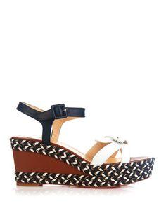 Christian Louboutin Lagoa leather wedge sandals