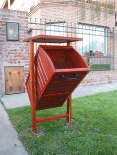 cestos basura de madera - Buscar con Google