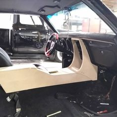 Test fitting the new custom console for this 68 fiberbird . Equipped with push button shifter Vents, and controls and double dont. Custom Car Interior, Car Interior Design, Truck Interior, Automotive Upholstery, Car Upholstery, Custom Trucks, Custom Cars, Camaro Interior, Custom Dashboard