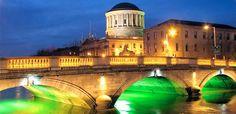Dublin, Ireland at night