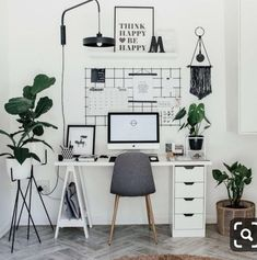 47 Inspiring Home Office Organization Ideas – Office Room Home Office Space, Home Office Design, Home Office Decor, Home Decor, Office Decorations, Office Workspace, Home Office Bedroom, Home Ideas Decoration, Decorating Office
