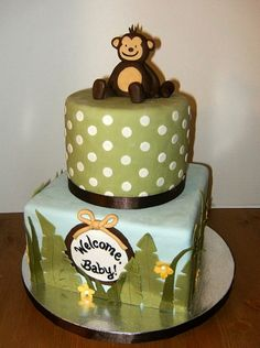 jungle themed baby shower cake By tuffstuff on CakeCentral.com