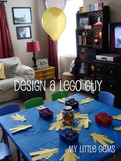 Lego Birthday Party Ideas- design a lego guy