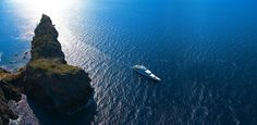 Yacht somewhere in the Med waters