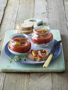 Das Rezept für Frischkäse-Tomaten-Töpfchen und weitere kostenlose Rezepte auf LECKER.de