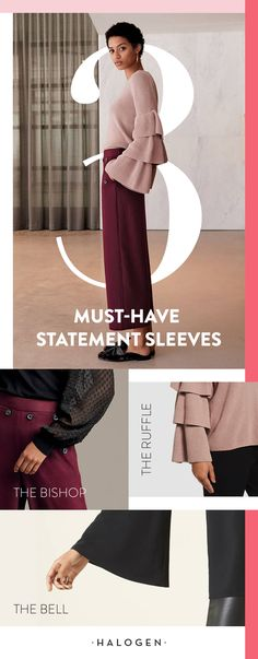 Sleeves are the new accessory. Cozy knits get a modern twist with the latest trends in statement sleeves – the bishop, the ruffle, the bell – the possibilities are endless when you shop Halogen, sold exclusively at Nordstrom.
