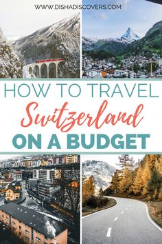 7 Simple Ways to Travel Switzerland on a Budget - It's totally possible to travel to Switzerland on a budget despite it being an expensive country. Top Travel Destinations, Europe Travel Tips, Asia Travel, Solo Travel, Budget Travel, Travel Usa, Europe Budget, Travelling Europe, Europe Packing