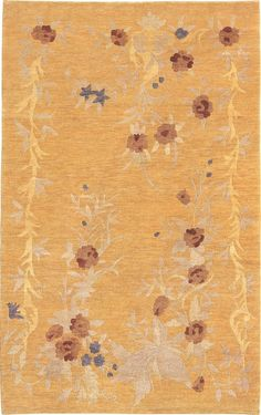 Jamina Floral Wool Hand-Knotted Indoor/Outdoor Rug