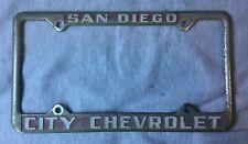 Vintage Original San Diego City Chevrolet License Plate Frame California 50s 60s San Diego City License Plate License Plate Frames