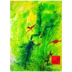 GREEN ONES - Original auf Papier - Gouachefarben / Copyright Irina Meye 2013 / www.irinameye.de