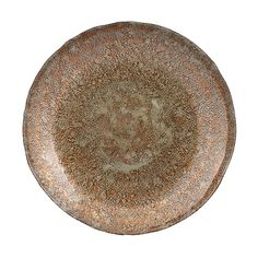 Copper Patina Glass Charger