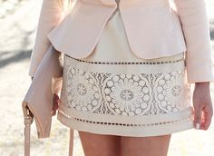 amazing skirt detail to add just the right amount of attention to a simple outfit