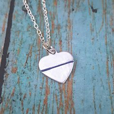 Police Wife Necklace  Police Wife  Thin Blue by tagsandthingsbyk