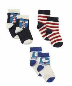 Mothercare Seaside Co-Ordinated Socks - 3 Pack £4