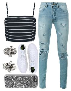 """""""Simple"""" by freedom2095 ❤ liked on Polyvore featuring Mudd, Yves Saint Laurent, Converse and Case-Mate"""
