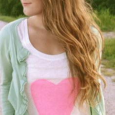 A DIY graphic heart tee using supplies that won't leave your shirt feeling stiff
