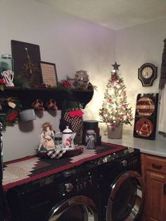 Laundry room at Christmas