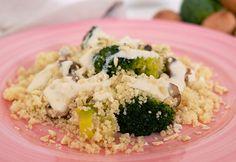 Couscous med broccoli och svamp