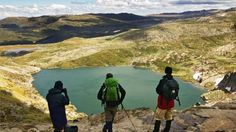 Camp at the top of Australia. Blue Lake, Kosciuszko National Park, Snowy Mountains, NSW.