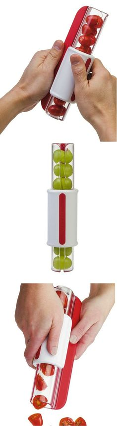 Awesome grape slicer! Slice cherry tomatoes, grapes, olives and more with a quick zip! #kitchenware #ad #gadget