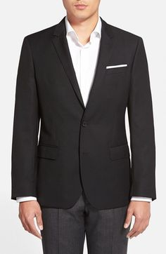 BOSS 'Hutch' Trim Fit Wool Blazer available at #Nordstrom