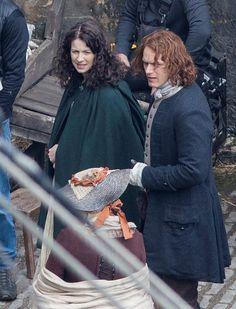 'Outlander' Season 2 Begins Filming in Fife, Scotland Harbor with Caitriona Balfe (Claire Fraser) and Sam Heughan (Jamie Fraser)