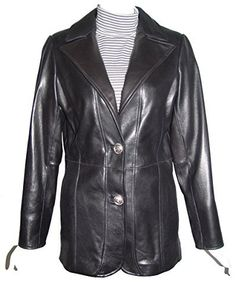 "Product review for Paccilo Women4011 Larger PLUS & ALL SIZE Lambskin Leather Blazer.  - Button Front, Laydown Notched Collar, Lined, No Insulation, Silky Feel Pocket Lining. Not all leather is the same. When vendors say or state, ""leather or genuine leather"", they generally use ""pig skin"", which is the worst quality of leather and therefore inexpensive. If you..."