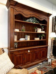 Beautiful buffet with hutch with beadboard back. This piece is done in pine and has plenty of space to show off your china.  Measures 86*20*103.