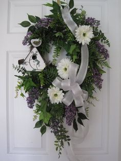 PURPLE LILAC Wreath Spring Wreath Easter Wreath by funflorals