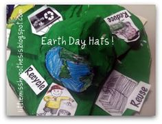 Earth Day Hats- The best part is that these hats are made out of items that you would recycle!