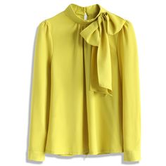 Chicwish Kiss Me Bow Top in Mustard (755 MXN) ❤ liked on Polyvore featuring tops, blouses, shirts, chicwish, yellow, zipper shirt, mustard shirt, zipper blouse, tie shirt and mustard yellow shirt