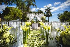 Amazing floral ceremony set-up at The Phoenician!