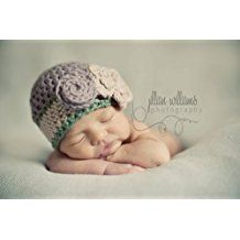 PDF CROCHET PATTERN- Springtime hat - Newborn-preteen (English Edition)