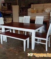 More info/pemesanan : Telp : 0895360825124 Wa : 0895360825124 # Casual Chic Style, Classic Style, Solid Wood Dining Set, Spring Fashion Casual, Winter Fashion, Denpasar, Stylish Home Decor, Classic Furniture, Online Furniture