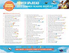 2015 Summer Reading Challenge Booklist - Ages 11-13. #summerreading