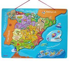 PUZZLE ESPAÑA MAGNÉTICO | JANOD | Juguete EurekaKids