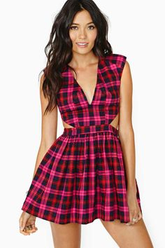 School Slang Dress #fashion #plaid #dress