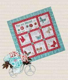 Val Laird Designs - Journey of a Stitcher: Free Block of the Month Wall Quilt - Pattern 1