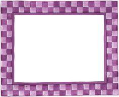Borde de color violeta para imprimir