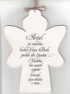 Drevený anjel: Anjel je niekto... | 7,76€ - obrázok