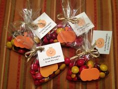 I made these for a fall baby shower favor. Simple :)