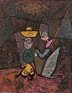 The Travelling Circus, Lithography by Paul Klee (1879-1940, Switzerland)